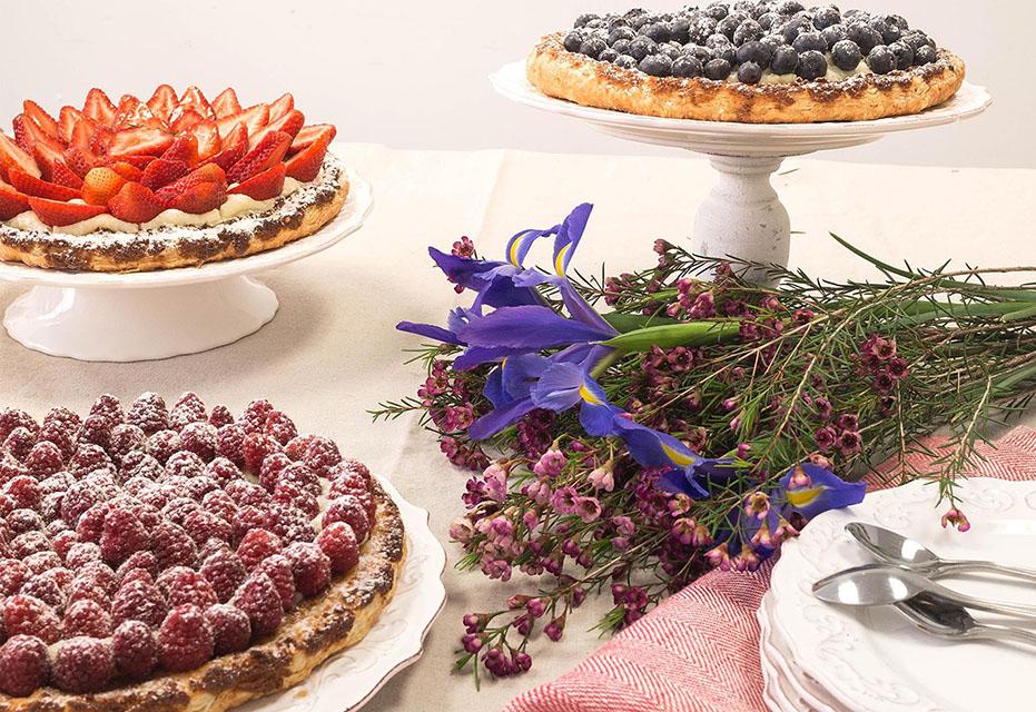 tartes fruits été